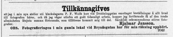 Norrlandsposten den 24 juli 1876.