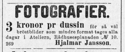 Norrlandsposten den 26 januari 1885.