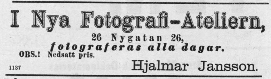 Norrlandsposten 18 mars 1887.