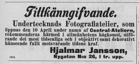 Norrlandsposten 8 april 1892.