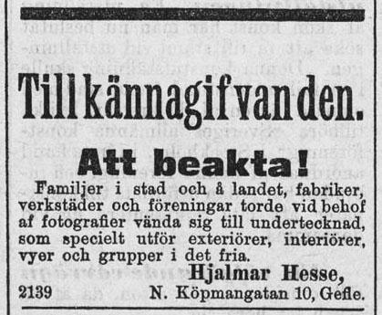 Norrlandsposten den 17 maj 1901.