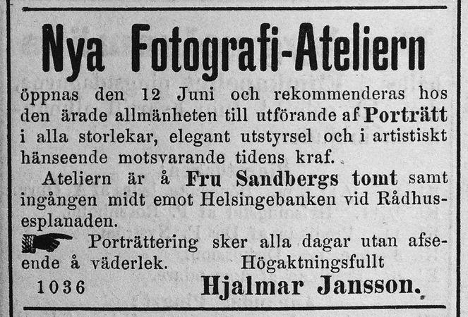 Söderhamns Tidning den 9 juni 1886.