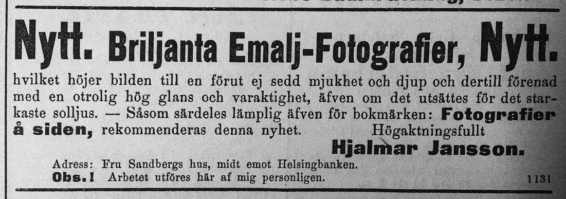 Söderhamns Tidning den 23 maj 1891.