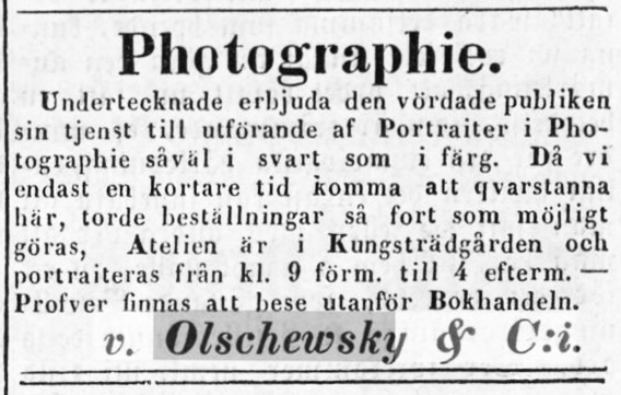 Vestmanlands Läns Tidning den 29 september 1859.
