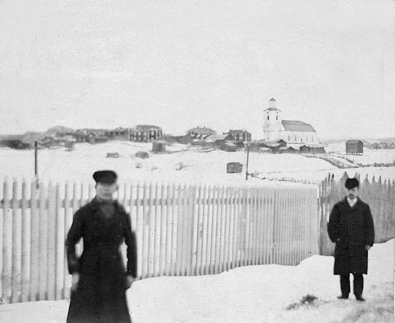En bild som enligt uppgift skall vara på Ulrika (till vänster) och en John Jakobsson (till höger), foto: Malin Eriksson, Sockenbilder Nr. SG0005c (Jan Olov Eriksson, Ovanåkers Hembygdsförening).
