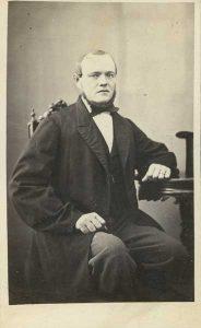 Eduard Möller visitkort Gefle, framsida (XLM U03143).
