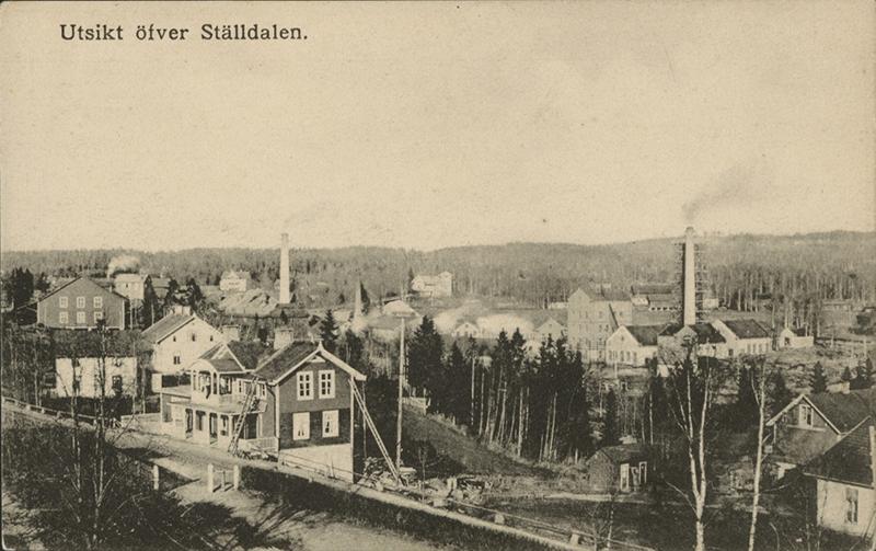 """Vykort """"Utsikt över Ställdalen"""", foto: K. Beermann."""